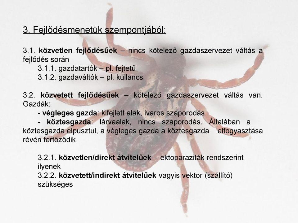 Élősködő – Wikipédia - Gazdaszervezetek és parazitáik